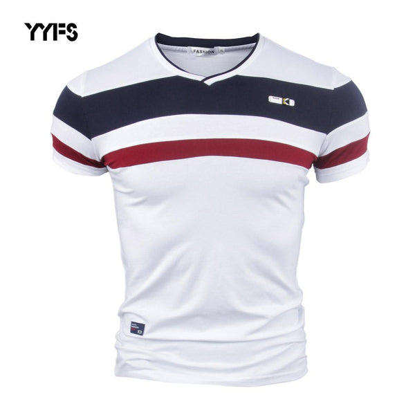 Vintage Style V neck Cotton T-shirt - World Wide Lux Brands