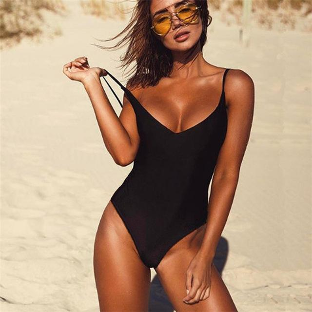 One Piece Backless Bathing Suit - World Wide Lux Brands
