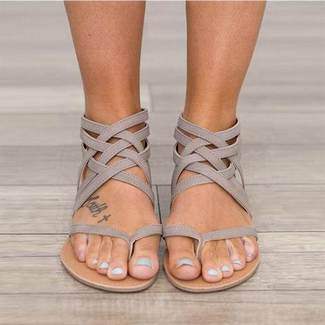 Cross Tied Sandals - World Wide Lux Brands