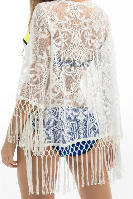 Lace Crochet Tassel Bikini Cover Up - World Wide Lux Brands