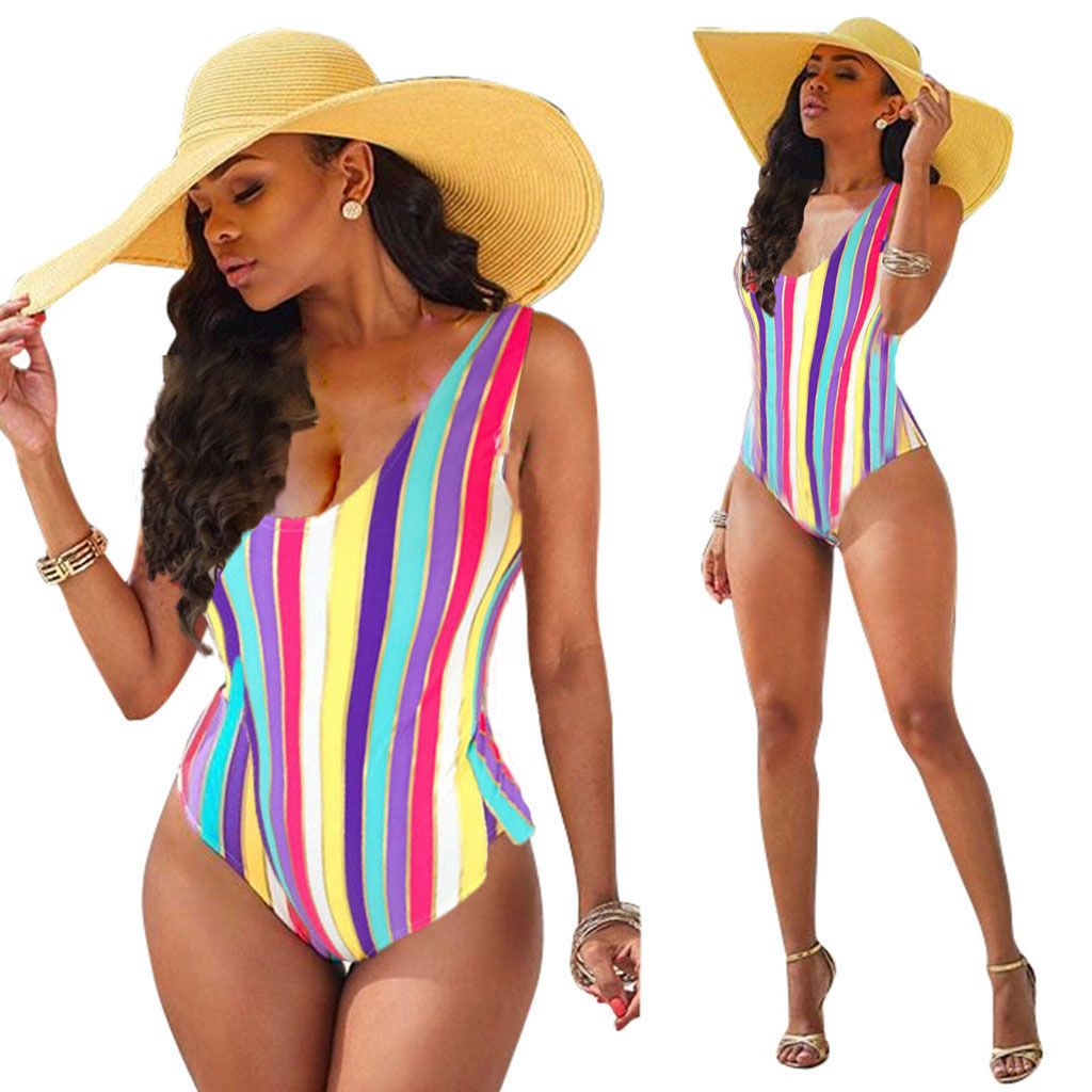 One Piece Multi color Print Bathing suit - World Wide Lux Brands