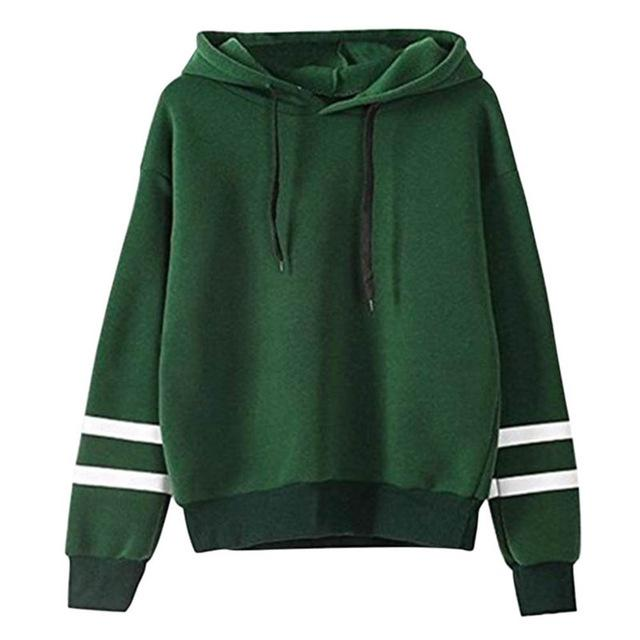 Striped Drawstring Pullover Hoodies - World Wide Lux Brands