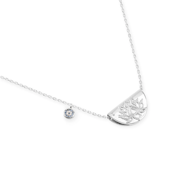 BY CHARLOTTE | LUCKY LOTUS NECKLACE - SILVER