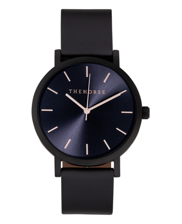 THE HORSE | THE ORIGINAL WATCH - MATTE BLACK / ROSE GOLD