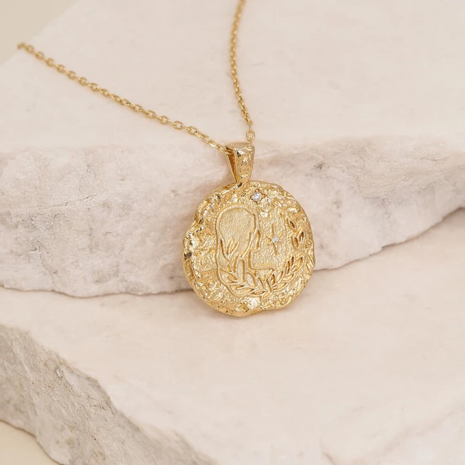 BY CHARLOTTE | GOLD VIRGO NECKLACE