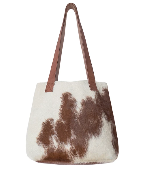 GRAINE | LITTLE LYGON BAG - TAN & NATURAL COW HIDE