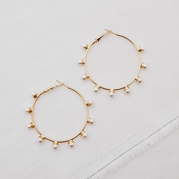 SABLE + DIXIE | POET PEARL HOOPS
