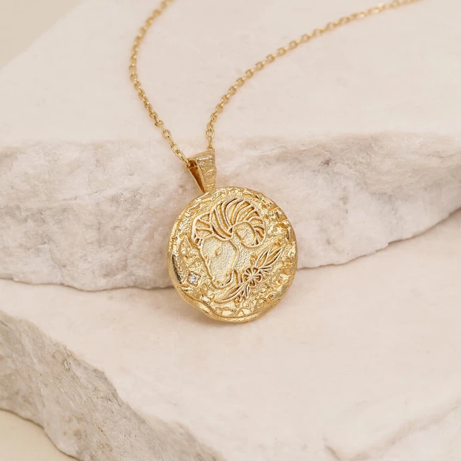 BY CHARLOTTE | GOLD ARIES NECKLACE