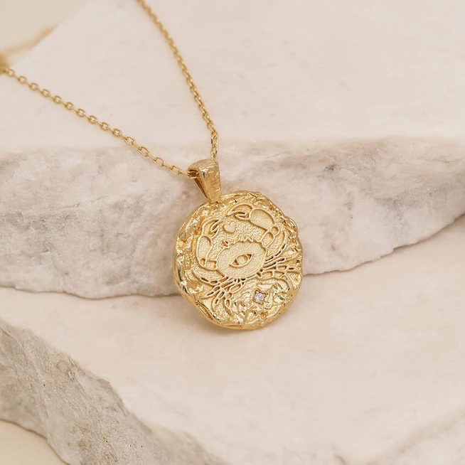 BY CHARLOTTE | GOLD CANCER NECKLACE