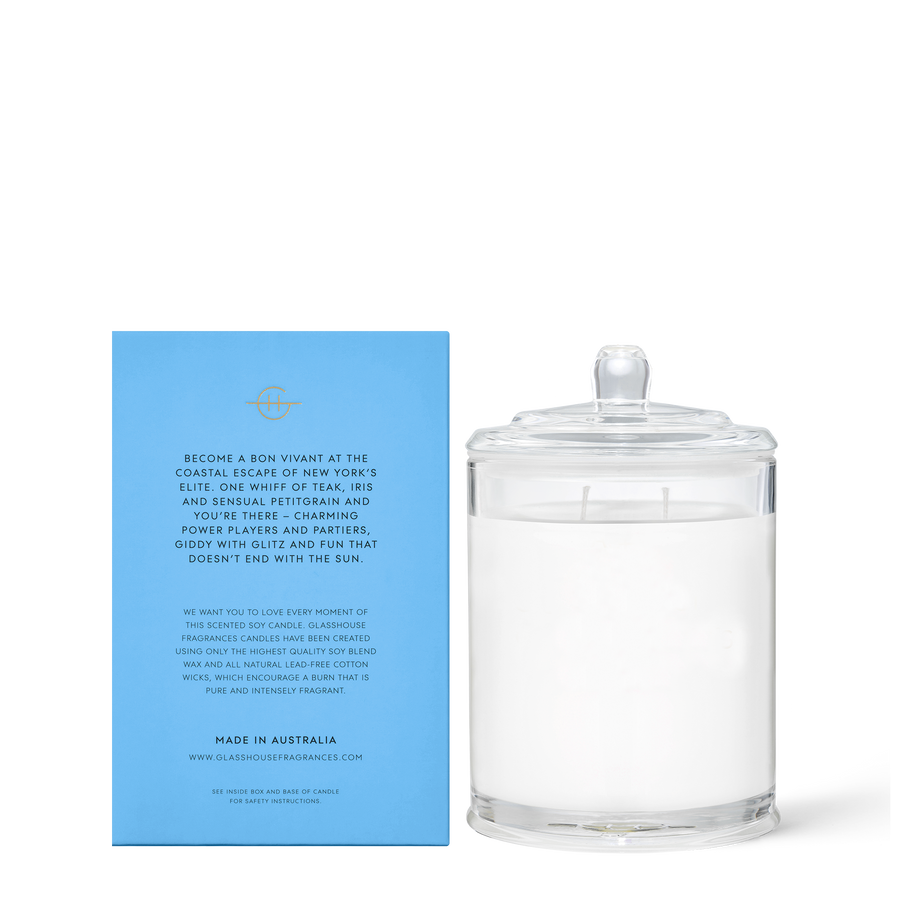GLASSHOUSE | THE HAMPTONS - 380G CANDLE