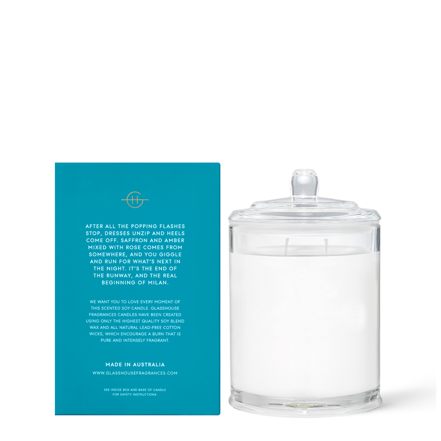GLASSHOUSE | MIDNIGHT IN MILAN -  380G CANDLE