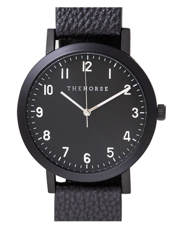 THE HORSE | THE RESIN: MATTE BLACK / BLACK DIAL / BLACK LEATHER