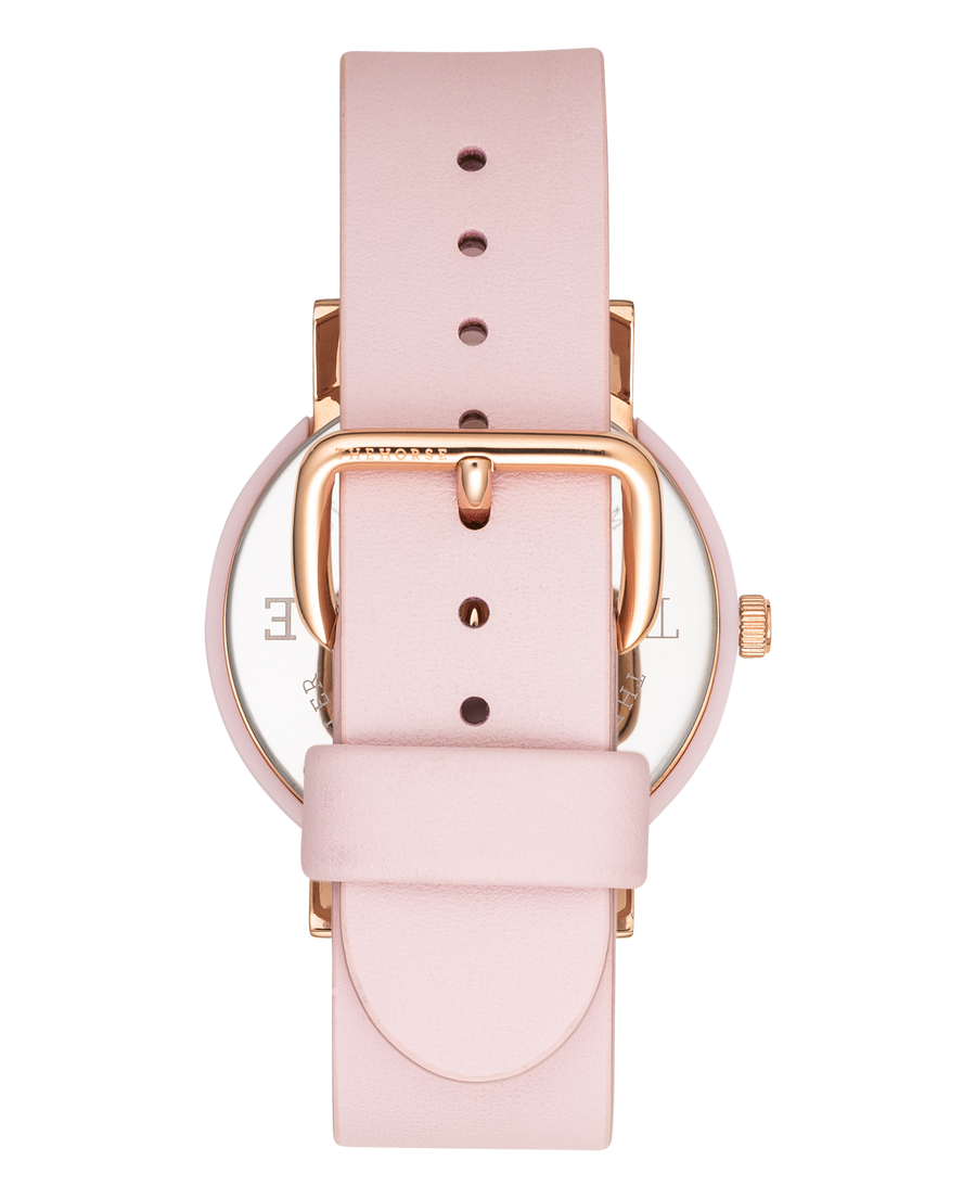 THE HORSE | THE RESIN: PINK / WHITE DIAL / PINK LEATHER
