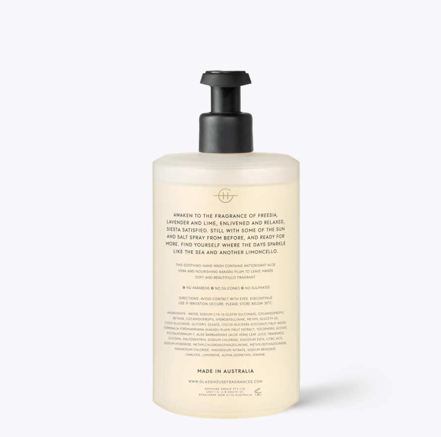 GLASSHOUSE | LOST IN AMALFI - 450ML HAND WASH