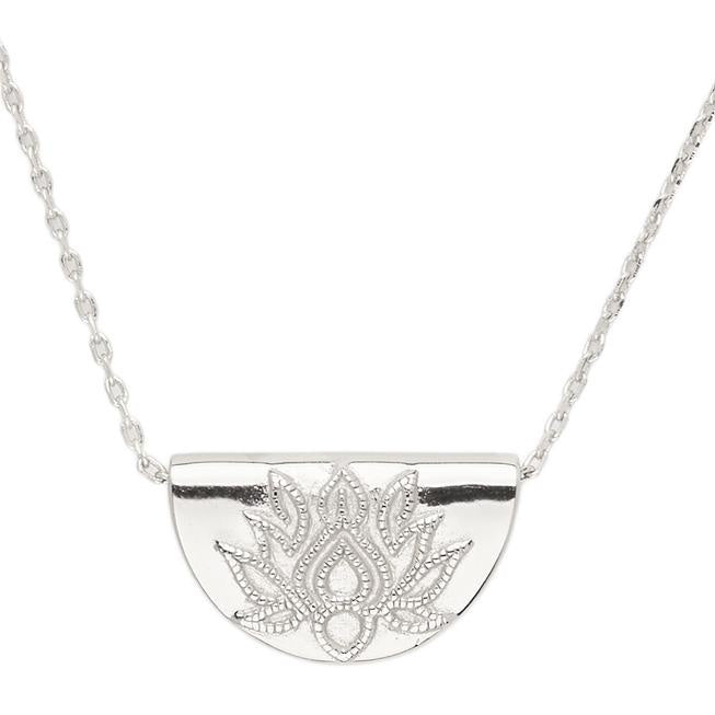 BY CHARLOTTE | SILVER LOTUS SHORT NECKLACE