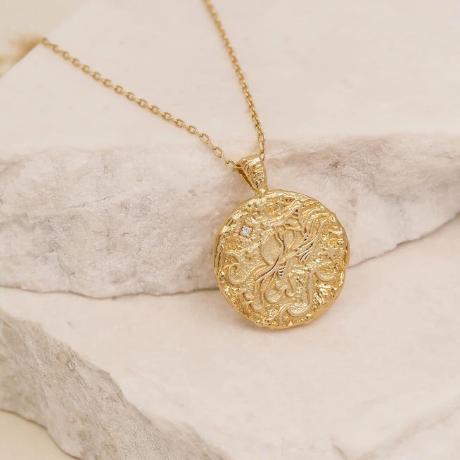 BY CHARLOTTE | GOLD AQUARIUS NECKLACE