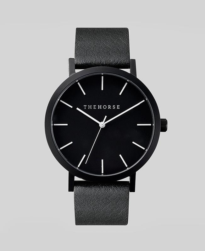 THE HORSE | MATTE BLACK / BLACK LEATHER