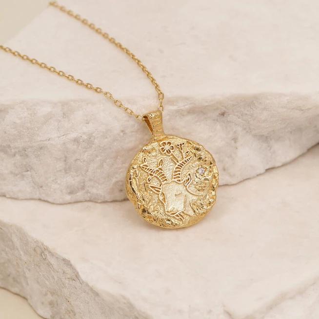 BY CHARLOTTE | GOLD CAPRICORN NECKLACE
