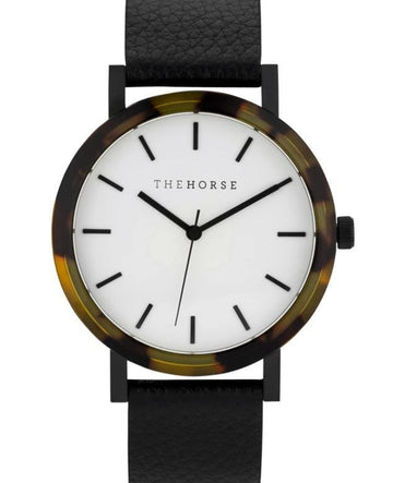 THE HORSE | RESIN - BLONDE TORT SHELL / WHITE DIAL / BLACK BAND