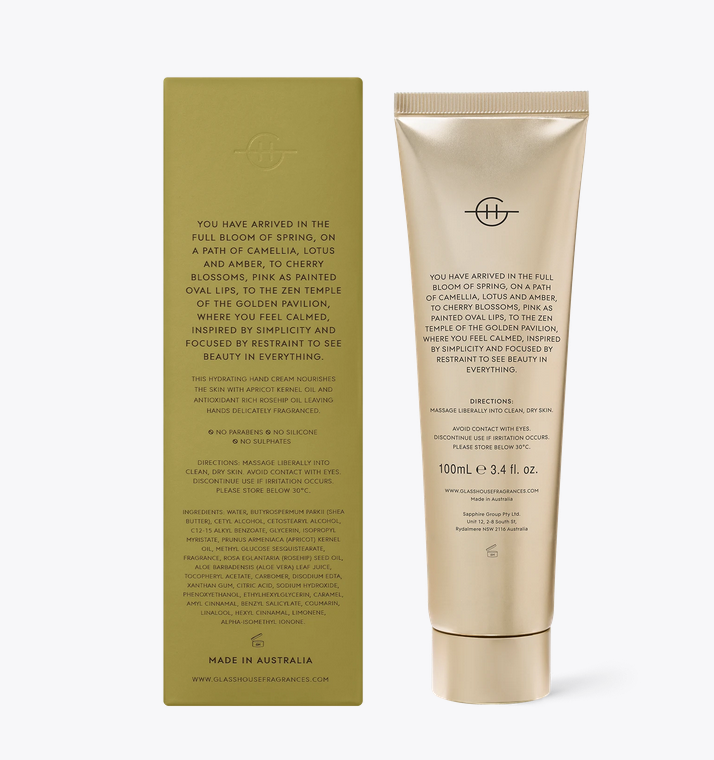GLASSHOUSE | KYOTO IN BLOOM - 100ML HAND CREAM