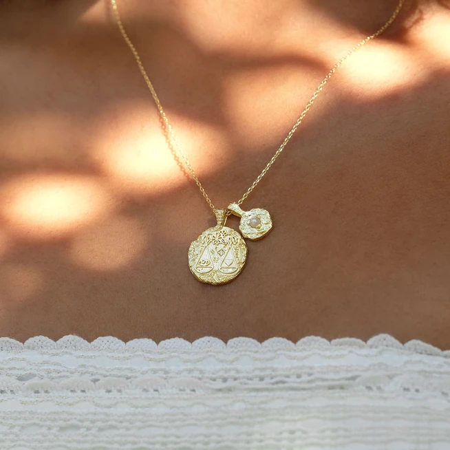 BY CHARLOTTE | GOLD LIBRA NECKLACE
