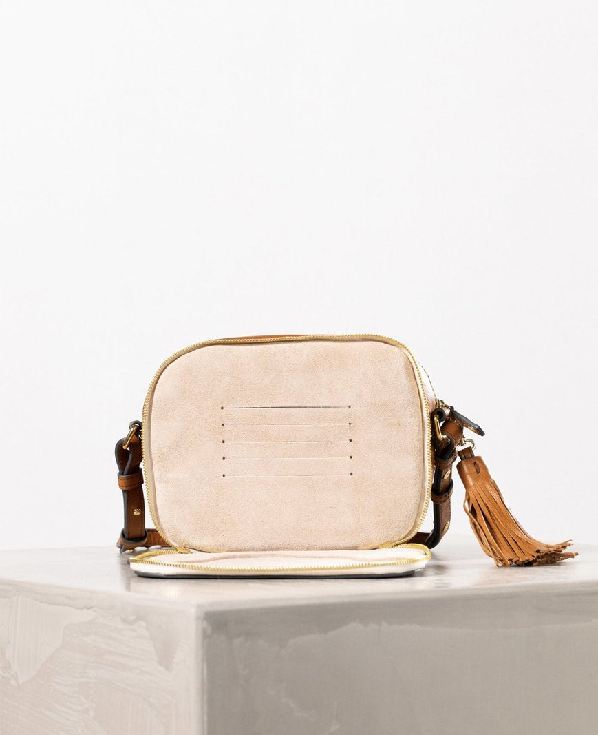 THE HORSE | DOUBLE ZIP CROSS BODY BAG - TAN