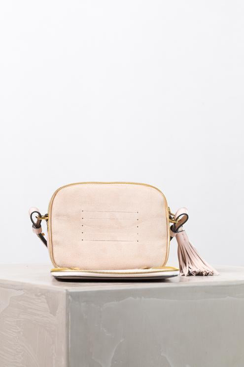 THE HORSE | DOUBLE ZIP CROSS BAG - BLUSH
