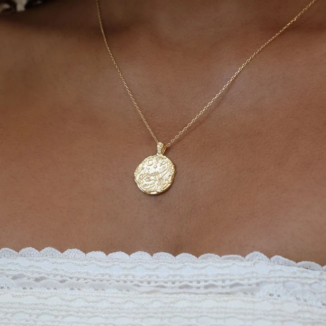 BY CHARLOTTE | GOLD SCORPIO NECKLACE