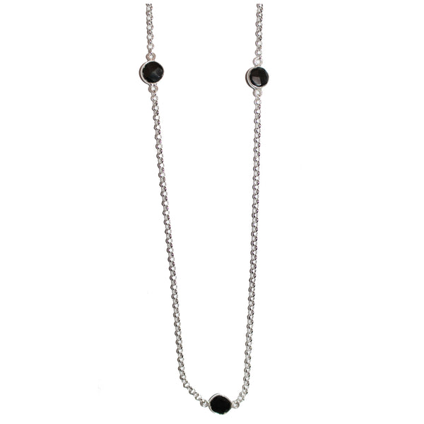 BLACK ONYX STATION NECKLACE