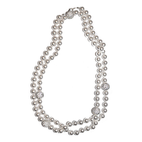 PEARL CRYSTAL CLUSTER NECKLACE