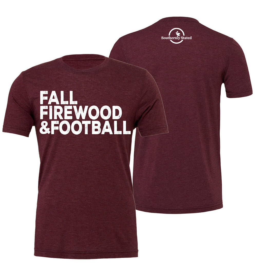 Fall Firewood & Football Triblend Short Sleeve