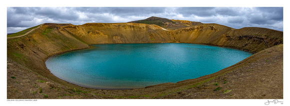 Iceland Volcanic Crater Lake