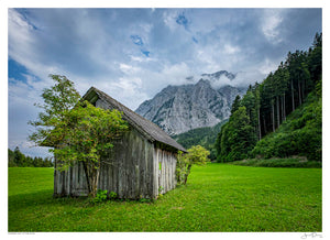 Wooden Hut in the Alps