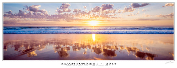 Beach Sunrise I Poster