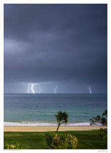 Lightning off Morton Island