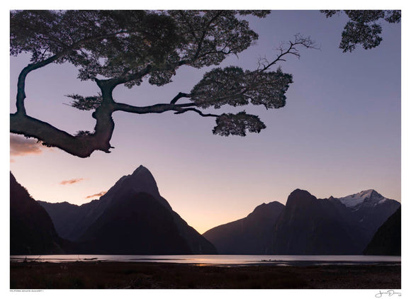 Milford Sound Sunset I