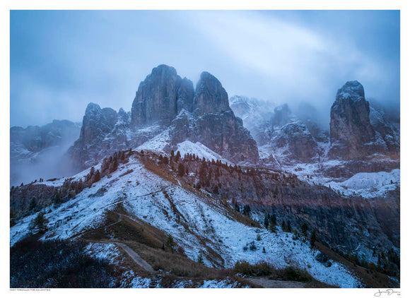 Mist through the Dolomites