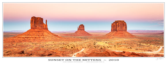 Sunset on the Mittens Poster