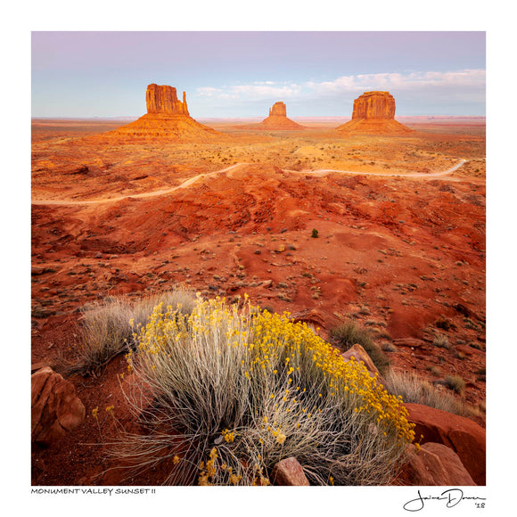 Monument Valley Sunset II
