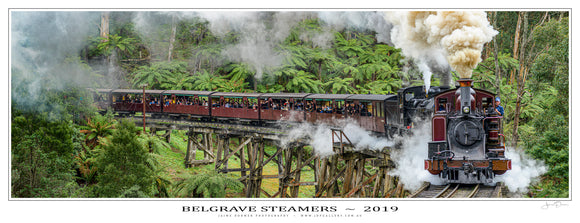 Belgrave Steamers Poster