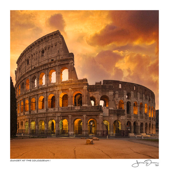 Sunset at the Colosseum I