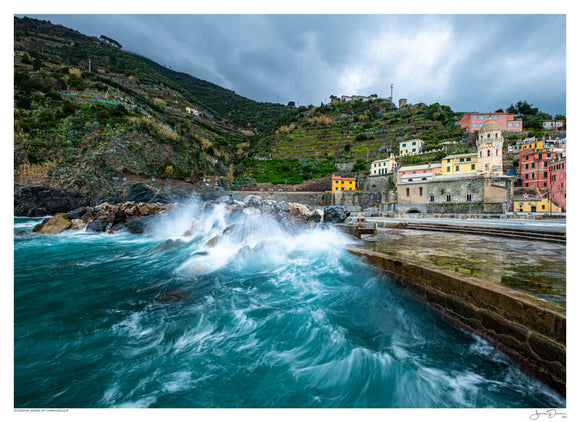 Stormy Seas at Vernazza