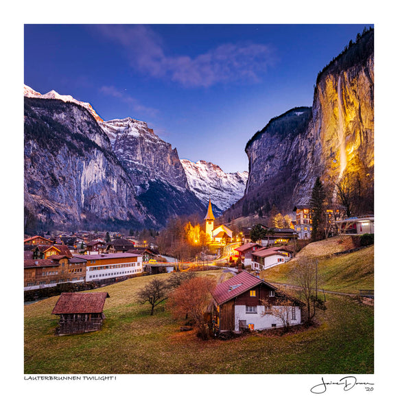 Lauterbrunnen twilight I