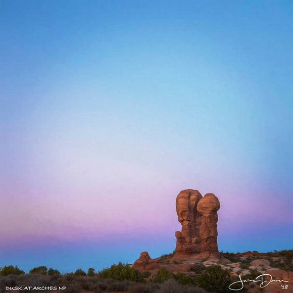 Dusk at Arches NP