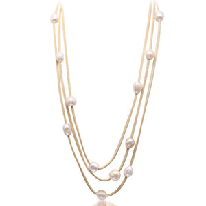 3 Layer Pearl Necklace