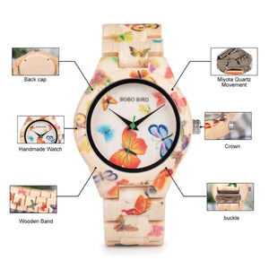 Butterfly Bamboo Watch