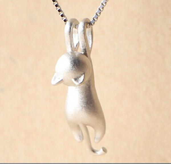 Cat Sterling Silver Necklace