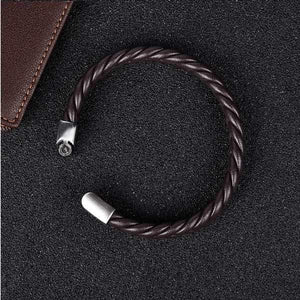 Classic Braided Brown Bracelet