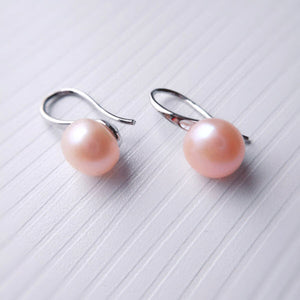 Fish Hook Pearl Earrings