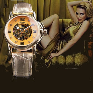 Ladies Diamond Skeleton Watch